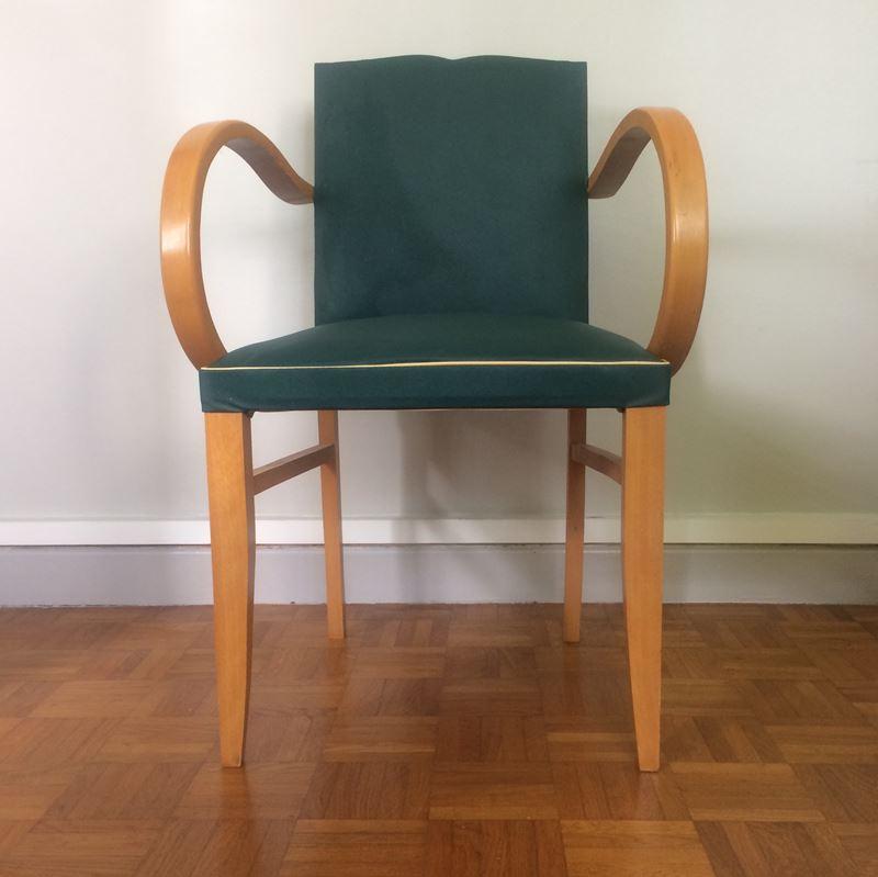 fauteuil bridge vintage ann es 50. Black Bedroom Furniture Sets. Home Design Ideas