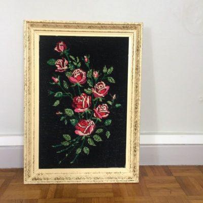 Tableau bouquet de roses vintage
