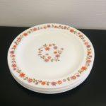 Assiettes plates Arcopal vintage