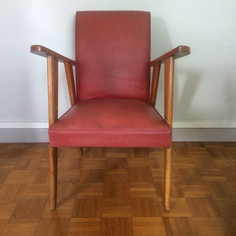 fauteuil design scandinave vintage rev tement ska datant ann es 50. Black Bedroom Furniture Sets. Home Design Ideas