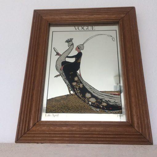 Miroir Vogue Dame au paon