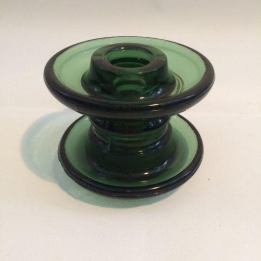 Isolateur edf en verre vert