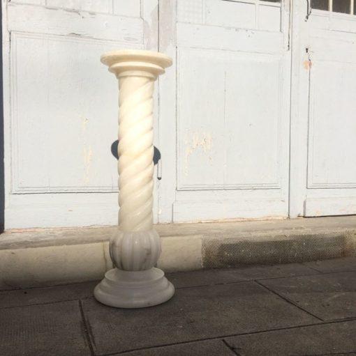 Colonne marbre blanc vintage art déco