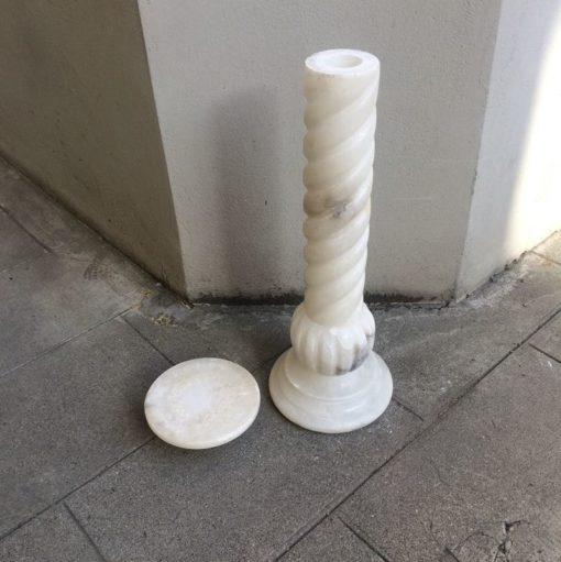 Ancienne Colonne Marbre blanc