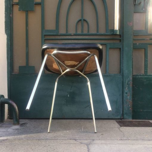 Chaise bureau skaï noir