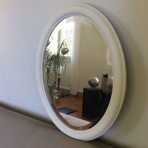 Miroir oval biseauté vintage