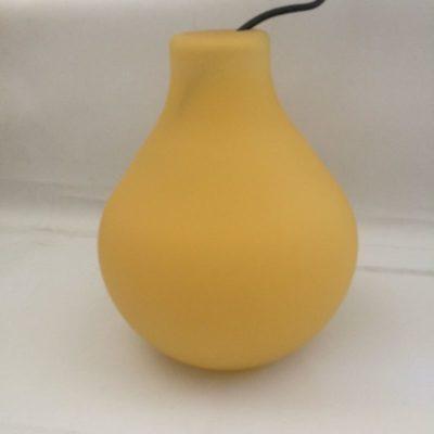 Luminaire suspension vintage jaune