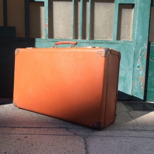 Ancienne valise en fibre vulcanisé