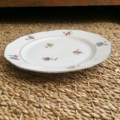 Assiettes porcelaine rétro