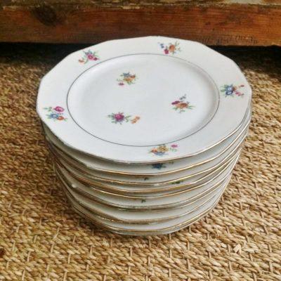 Assiettes porcelaine vintage