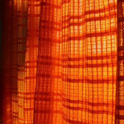 Rideau filet orange pop