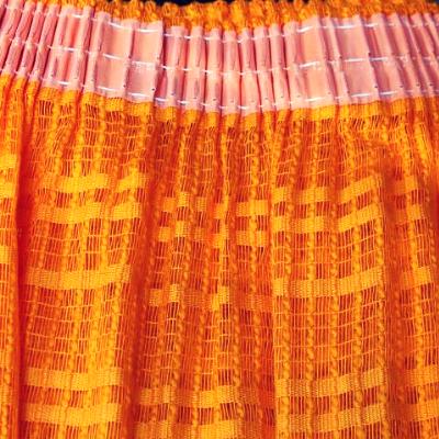 Rideau Voilage Orange Pop Vintagedatant Des Annees 70 Pret A Etre Pose