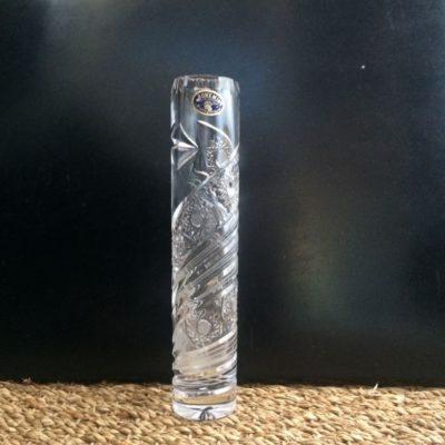Soliflore en cristal de bohême