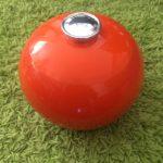 Seau à glaçons boule orange vintage