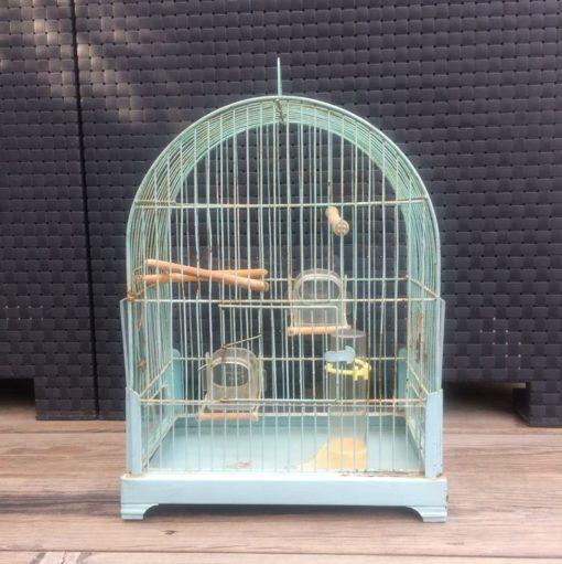 cage à oiseaux en métal vintage