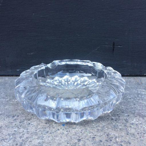 cendrier en verre ciselé cristal vintage