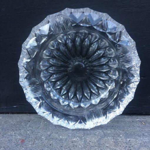 Ancien cendrier en cristal