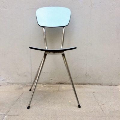 chaise formica bleu vintage