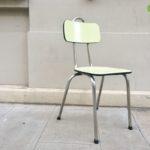 Chaise formica jaune vintage