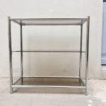 Meuble étagère métal chromé design vintage