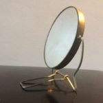 Miroir barbier rond grossissant vintage