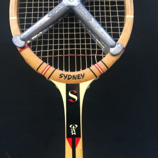 Ancienne raquette tennis cadre bois