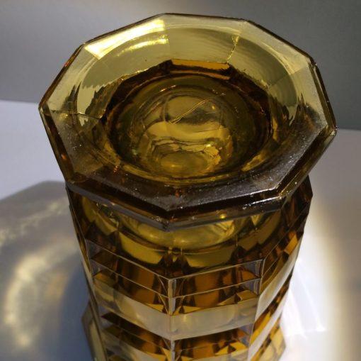 vase vintage ambré