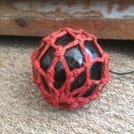 Ancien flotteur de pêche boule verre ambrée