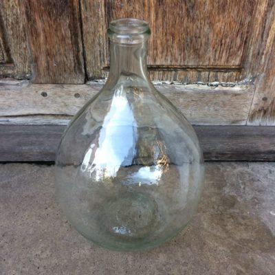 Dame Jeanne vintage en verre transparent