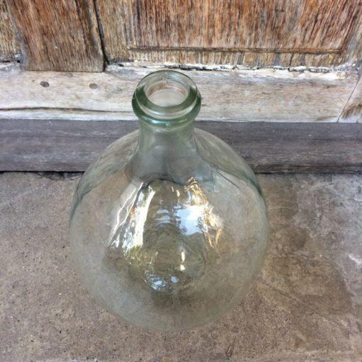 Dame Jeanne en verre transparent