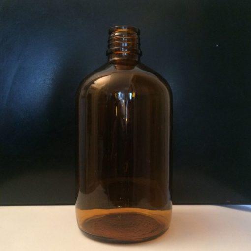 Bouteille verre ambré vintage