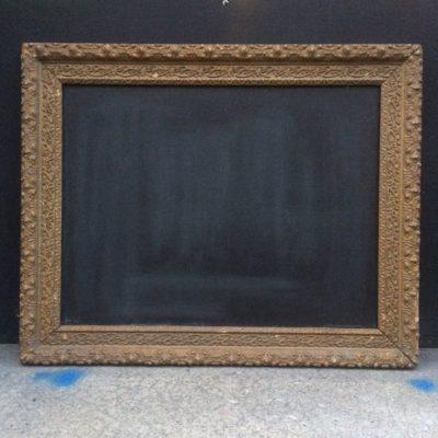 Ancien cadre doré tableau ardoise