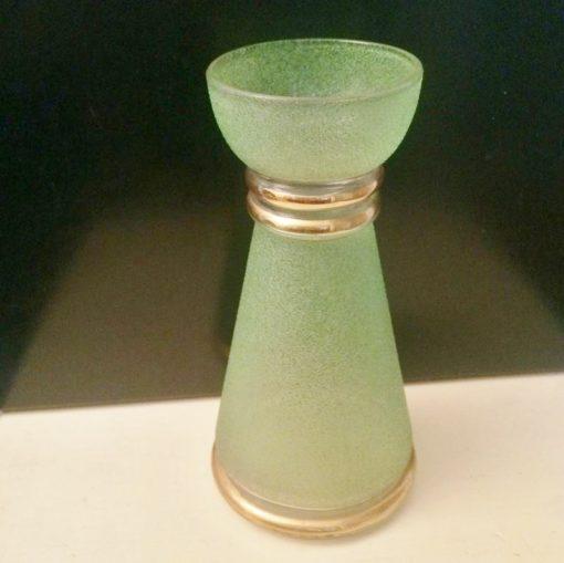 Vase verre givré Années 50 vintage