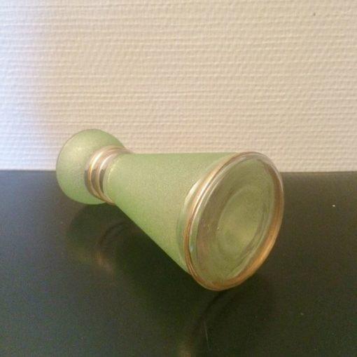 Ancien Vase verre givré