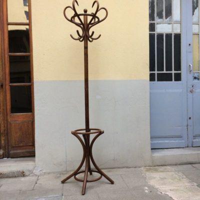 Ancien porte manteau perroquet bois courbé