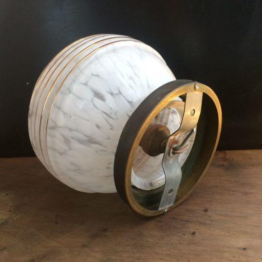 Plafonnier globe verre Art Déco vintage