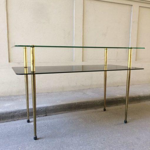 Table basse double plateau années 50