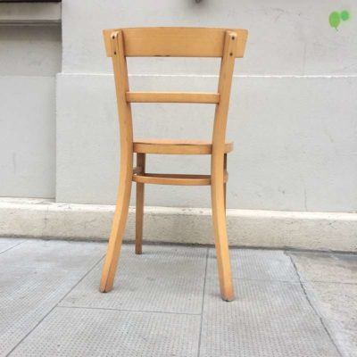 Chaise bistrot bois vintage