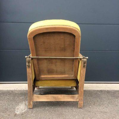 Fauteuil Art Déco 1930 jaune moutarde