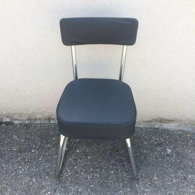 Ancienne chaise bureau gris anthracite