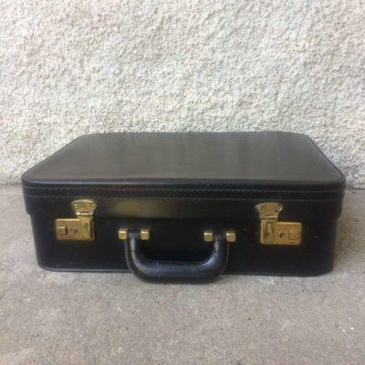 valise rétro vintage noir