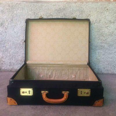 Valise vintage poignée cuir