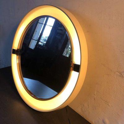 Miroir rétro éclairé vintage