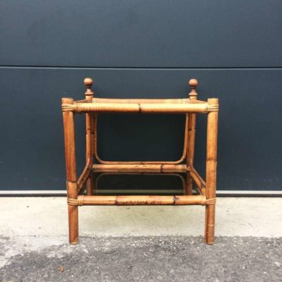 Bout de canapé bambou vintage