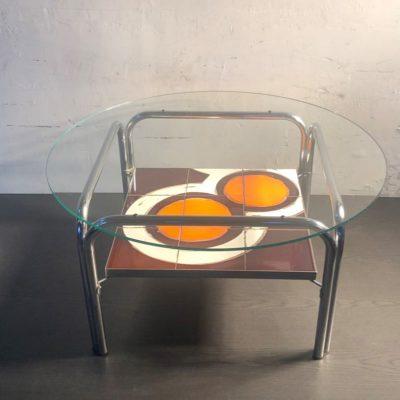 Table basse double plateaux vintage