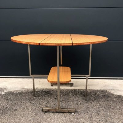 Table ronde formica pliable