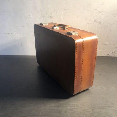 Valise carton vintage marron