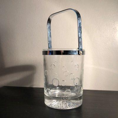 Seau à glace en verre moulé