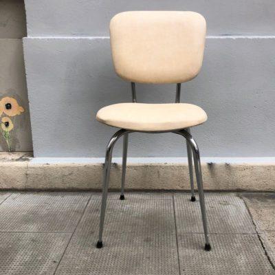 Chaise 1970 skaï beige