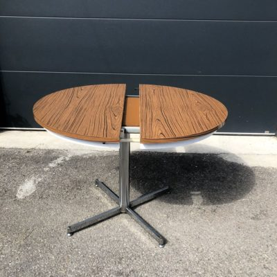 Table ronde formica pied central vintage